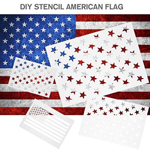 American Flag Stencils Ladash 6 Pieces Star Stencil 50 Stars Usa