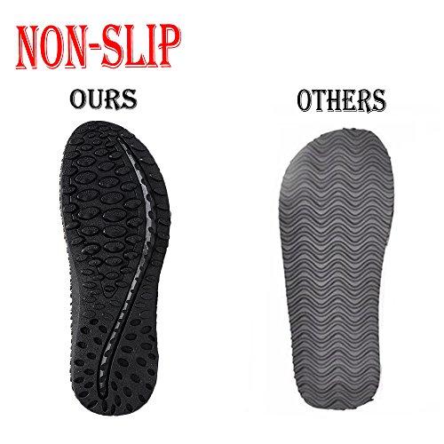 Hanerdun Mens Flip Flops Sandales De Plage Antidérapantes Gris