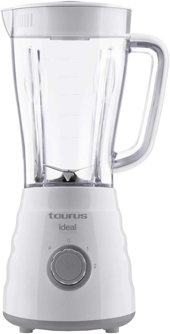 Taurus Ideal Collection PTJBF500 Batidora de vaso, 500 W, Jarra de 1.5 litros, 2 velocidades + Turbo, Plastic