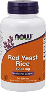 NOW Supplements, Red Yeast Rice (Monascus purpureus) 1,200 mg, Nutritional Support, 60 Tablets
