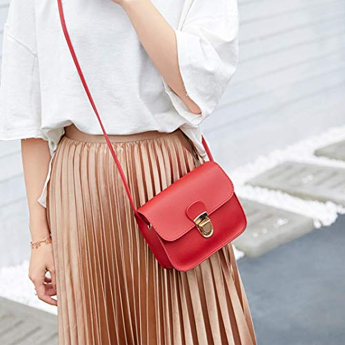 Hombro Negro Mujer Bolso Bolsa De Moda Sólido Del Bolso Rojo Crossbody Teléfono Kanpola El Bloqueo Del Color Cubierta wag8Hnwq