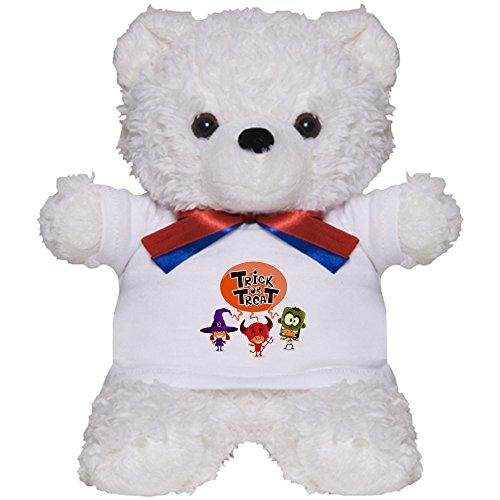 Teddy Bear White Halloween Trick Treat Kids ()