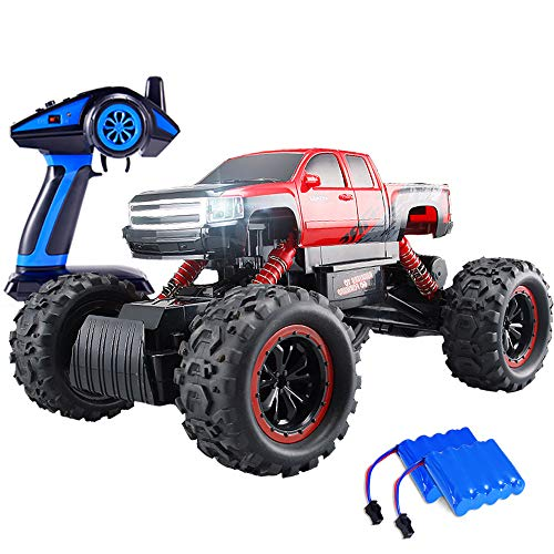 Geekper Electric RC Car Built with LED Headlights for Kids and Adult - Offroad Remote Control Cars RTR RC Buggy RC Monster Truck 1:12 4WD 2.4Ghz High Speed (with 2 Rechargeable Battery) -