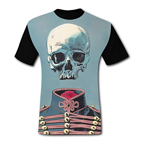 Crew Neck New 2018 Style T-Shirts 3D Custom Printed With Skeleton General For Men XXL