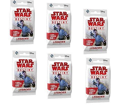 BUNDLE: Star Wars Destiny: Legacies Booster Packs (6 Booster Pack Lot)