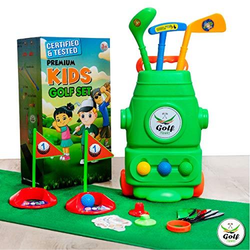 (Lab Tested) – Premium Kids Golf Clubs 3-5 – Kids Golf Set – Toy Golf Set – Toddler Golf Set – Golf Toys for Kids – Mini…