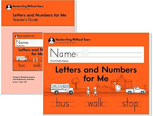 Handwriting Without Tears Letters and Numbers Kindergarten with teacher's guide