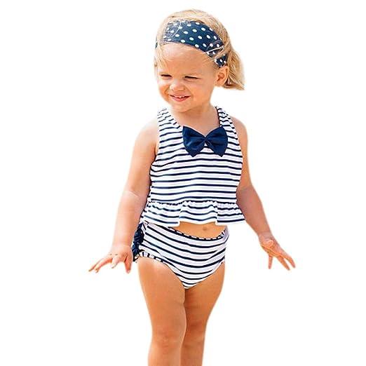 256c852cad Cute and beautifulBikini Beach Suspender Swimwear Swimsuit+Shorts for Baby  Girls 12 Month -5