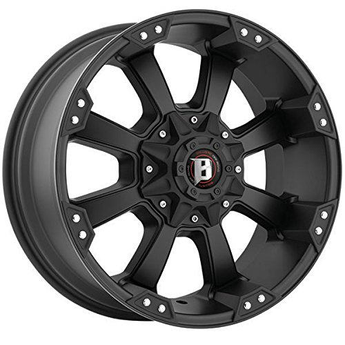Ballistic Morax 17 Black Wheel / Rim 5x4.5 & 5x5 with a -12m