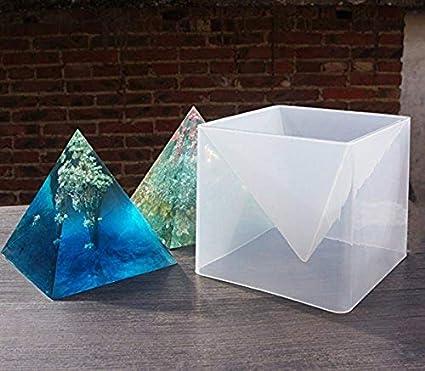 zuolan Super pirámide forma molde de silicona resina de cristal DIY Making Craft herramienta