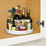 YouCopia Crazy Susan Cabinet Turntable Organizer with Backstop, 11-inches