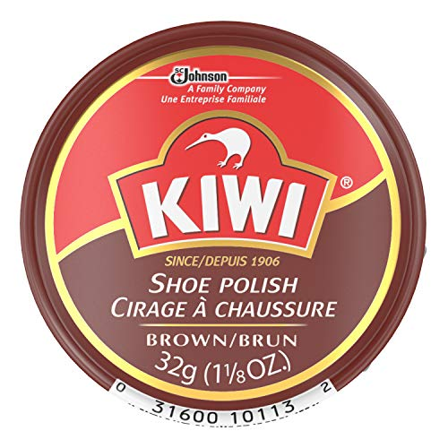 Kiwi Shoe polish paste, brown, 1.12 oz