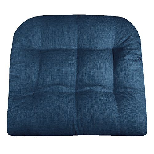 Barnett Products Patio Chair Cushion - Rave Pacific Blue Solid Color - Size Large - Indoor/Outdoor: Mildew Resistant, Fade Resistant - Latex Foam Fill (Wicker, Adirondack)
