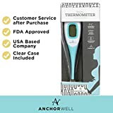 Digital Basal Thermometer with Backlight for Ovulation Tracking BBT (1/100th Accuracy) Bundled with 3 Pregnancy Tests by Wondfo for Natural Family Planning (NFP)