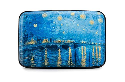Credit Card Case (Armor Wallet) Starry Night Over the Rhone By Van Gogh (Credit Purse)