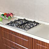 Brand New 23 inch Stainless Steel Built-in Kitchen 4 Burner Stove Gas Hob Cooktop Cooker