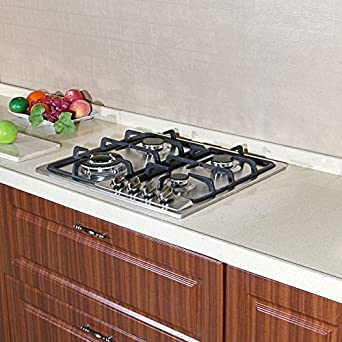 Brand New 23 Inch Stainless Steel Built In Kitchen 4 Burner Stove Gas Hob  Cooktop