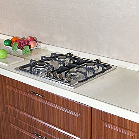 Amazon.com: Brand New 23 Inch Stainless Steel Built In Kitchen 4 Burner  Stove Gas Hob Cooktop Cooker: Appliances