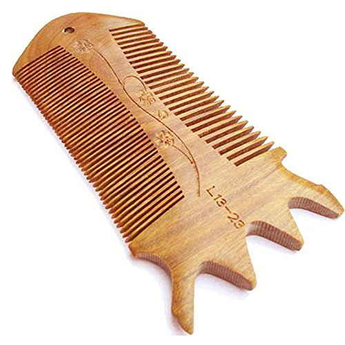HaWaTour® Sandal Rosewood Wooden Hair Comb -Hand Made - Anti Dandruff, Non-static and Eco-friendly