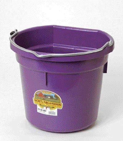 - Little Giant Flat-Back Dura-Flex Plastic Bucket, 22-Quart, Purple