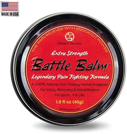 Extra Strength Pain Relief Cream (1.9-Ounce) - Battle Balm | All-Natural and Organic Topical Analgesic for Arthritis, Muscle Soreness, Sprains, Strains, Bruises and More. Professionally Approved.