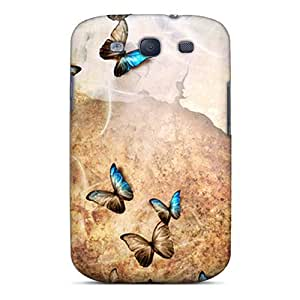 For Galaxy S3 Protector Case Butterfly Phone Cover