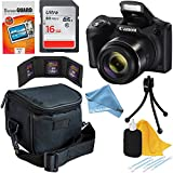 Canon Powershot SX420 IS 20 MP Digital Camera with 42x Optical Zoom and Built-In Wi-Fi (Black) + 7pc 16GB Accessory Kit w/DigitalAndMore Cleaning Solution