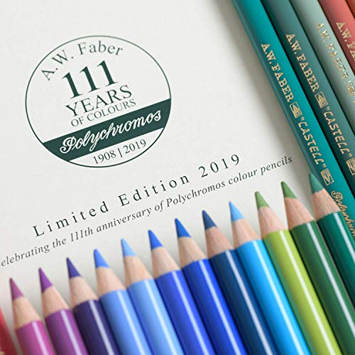 Faber-Castell Polychromos 111th Anniversary Limited Edition Wood Colored Pencil Tin - 36 Colors by Faber-Castell (Image #6)