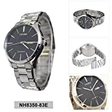 Citizen NH8350-83E Men's Stainless Steel Black Dial Day Date Automatic Watch