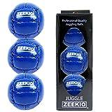 Zeekio Galaxy 12 Panel Leather Juggling Ball, Dark Blue, Set of 3