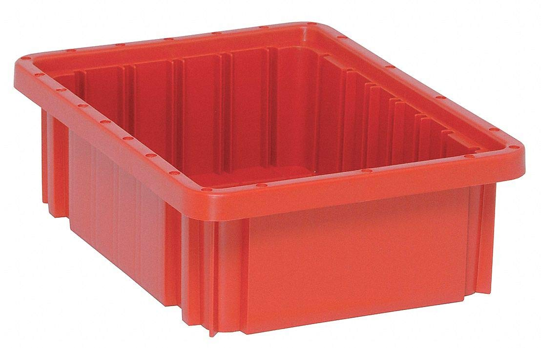 Divider Box, Red, 3-1/2''H x 10-7/8''L x 8-1/4''W, 1EA pack of 5