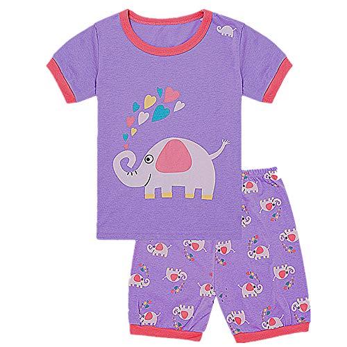 (Tkala Fashion Christmas Girls Pajamas Children Clothes Set 100% Cotton Little Kids Pjs Sleepwear (4T,)