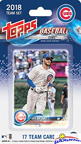 Chicago Cubs 2018 Topps Baseball EXCLUSIVE Special Limited Edition 17 Card Complete Team Set with Kris Bryant, Anthony Rizzo, Ian Happ & Many More Stars & Rookies! Shipped in Bubble Mailer! WOWZZER! (Team Mlb Topps Set)