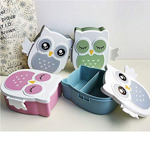 Best Quality - Lunch Boxes - Lovely Owl Microwave Plastic Lunch Box Owl Meal Prep Containers With Compartments Lunch Box For Kids Snack Bento Box New arrival - by SeedWorld - 1 PCs