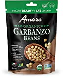 Amore Ready-To-Eat Organic Beans, 4.9 Oz Bag, 8 Pack (71082), Garbanzo Beans, 39.2 Oz