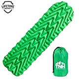 TNH Outdoors Inflating Lightweight Sleeping Pad With 2 Air Chambers By Compact Size Inflatable Air Mat For Backpacking Hiking Or Camping - Warm In Winter With Great Insulation