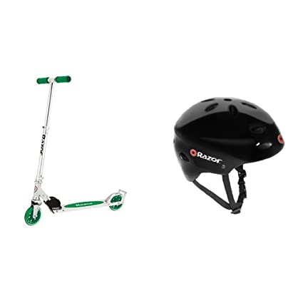 Amazon.com: Razor A3 Kick Scooter (verde) con casco negro ...