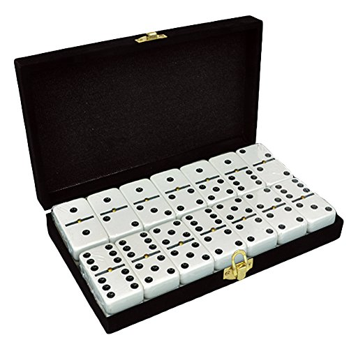 Jumbo Double Six Dominoes - Marion Domino Double 6 White Tiles Jumbo Tournament Size w/Spinners