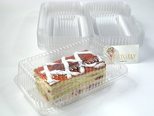 - Katgely Loaf Plastic Container for Cookies, Brownies and Fruit Bars (Pack of 40)