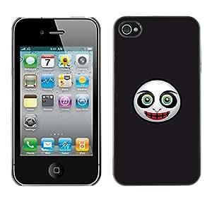 Cubierta de la caja de protección la piel dura para el Apple iPhone 4 / 4S - Evil Mask Face