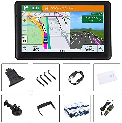 automobile GPS 7 inch Touch Screen Voice Prompt GPS Navigation Built-in 8GB No Need to Insert a Card+Multi-Media and FM for Car with Lifetime Maps