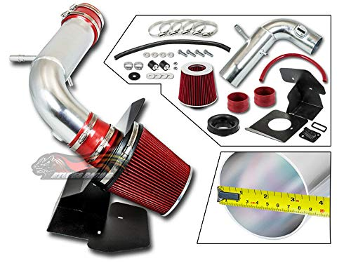 - S & T Racing RED 2011-2018 For Explorer 3.5L V6 Non-Turbo COLD SHIELD AIR INTAKE KIT +FILTER