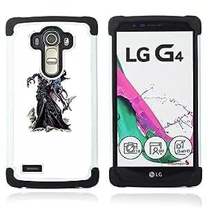 For LG G4 H815 H810 F500L - monster kraken white painting game Dual Layer caso de Shell HUELGA Impacto pata de cabra con im????genes gr????ficas Steam - Funny Shop -