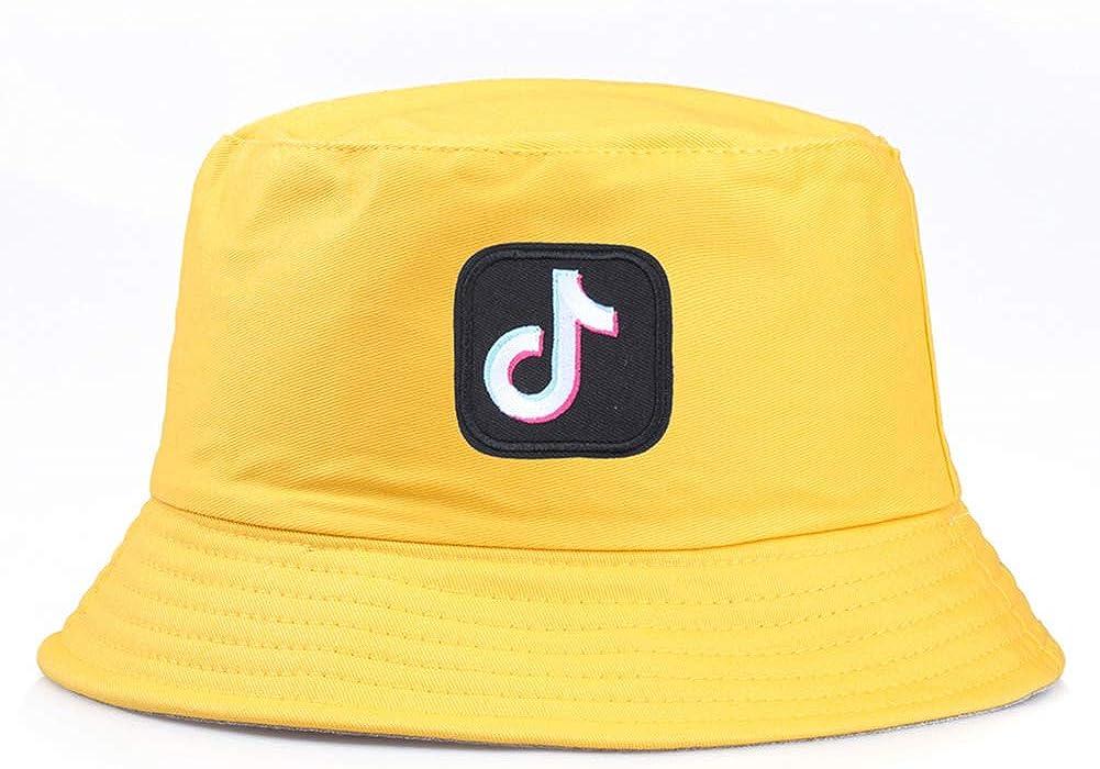 ink2055 Unisex Hat Outdoor Men Women Bucket Cap Hat Musical Note Embroidered Folding Fisherman Hat