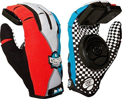 Sector 9 Rally Blue / Grey / Black Small / Medium Slide Gloves Downhill Slide Gloves