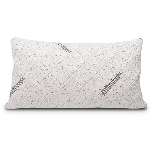 Comfort & Relax Shredded Bamboo Memory Foam Pillow for Neck Support with Free Pillowcase, KING