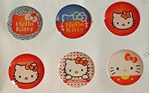 6pcs Hello Kitty 540 Style 1 Home Button Sticker for iPad iPod iPhone 5 4 4S 3G decal