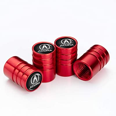 IJUSTBY 4 Pcs Metal Car Wheel Tire Valve Stem Caps for Acura RLX RDX MDX ILX TLX Logo Styling Decoration Accessories.: Automotive