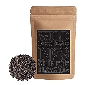 Wild Chinese Black Tea #9, FOP Grade Chinese Full-flavored Black Tea with notes of sweet and malt, Great Bulk Brewing Tea, Wild Reserve Tea by Wild Foods (4 ounce)