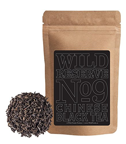 Tea Oolong Tea Aged (Wild Chinese Black Tea #9, FOP Grade Chinese Full-flavored Black Tea with notes of sweet and malt, Great Bulk Brewing Tea, Wild Reserve Tea by Wild Foods (4 ounce))